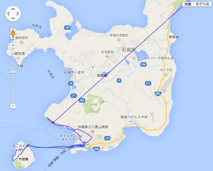 航路:GPSデーターが浜松あたり ...